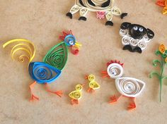 easy quilling animals - Google Search
