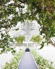 A Stylish Gray-and-Gold Seattle Wedding | Martha Stewart Weddings - Planner Steven Moore 