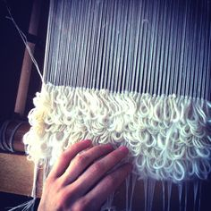 Weaving Rya from scraps of tufting