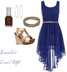 """Ravenclaw Casual Outfit"" by teresa-cheating-beauty on Polyvore"