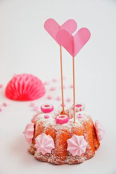 Make a candy-coated mini bundt cake for Valentine's Day!