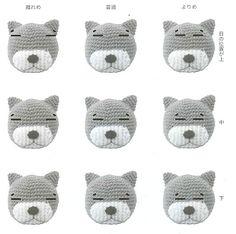 Amigurumi DIY by AngieGurumi: Amigurumi Amineko Cat Diagrama en Japonés