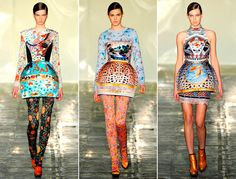 Mary Katrantzou Autumn Winter 2011. I really love these bubble skirts and, of course, lots of patterns!