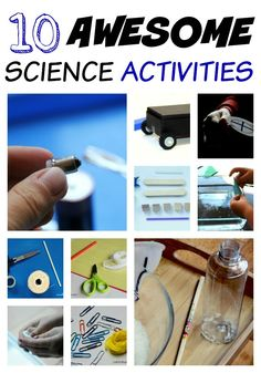 A collection of easy Science activities for preschoolers and kindergarteners.