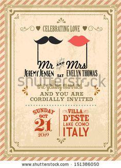 vintage wedding invitation designs - Buscar con Google