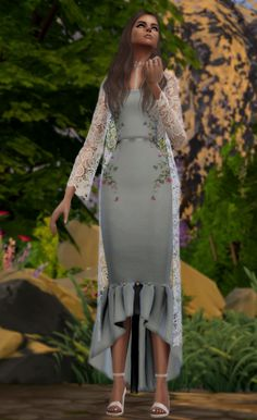 Angel Coat & Accessories for The Sims 4 Sims 4 Mods Clothes, Sims 4 Clothing, Sims Mods, Sims 4 Cas, Sims Cc, Sims 4 Wedding Dress, Sims 4 Controls, Maxis, The Sims 4 Cabelos