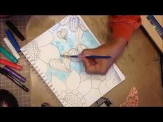 Art Journal Page Tutorial - Doodle and gelatos - YouTube