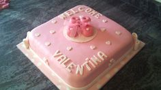 Tarta bienvenida Valentina decorada con fondant / Welcome Valentina cake
