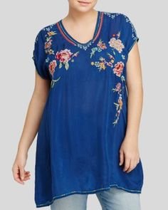 Johnny Was Collection Plus Carmen Embroidered Tunic | Bloomingdale's