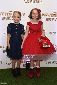 Raffiella Chapman and Pixie Davis attend a UK Fan Screening of 'Miss Peregine's Home For Peculiar Children' at The Soho Hotel on September 16, 2016 in London, England.