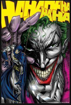 COMIC BOOK ILLUSTRATIONS | Joker and Batman by Hugh Rookwood