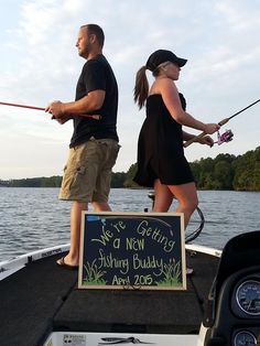 20 Ideas Baby Announcement Fishing Pregnancy - Baby Fishing Shirt - Ideas of Baby Fishing Shirt - 20 Ideas Baby Announcement Fishing Pregnancy Country Pregnancy Announcement, Pregnancy Announcement To Husband, Baby Announcement Pictures, Baby Announcement Photos, Baby Announcements, Baby Fish, Baby Baby, Baby Twins, Baby Gender Reveal Party