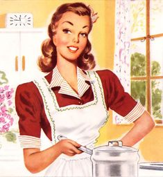 Vintage housewife again. I'm looking for ideas for the kitchen walls...