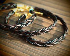 Braided leahter Bracelet for Men, Real Leather black and Brown barid,  Best Gift for Men Boy Bracelet-Best Friendship Jewelry Gift