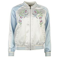 Golddigga | Golddigga Embroidered Bomber Jacket | Ladies Coats and Jackets
