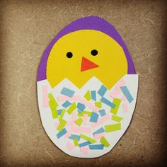 Peep, peep, peep says the Spring chick! Come by and listen to our Spring preschool storytime here @ Alamitos library & stay afterwards to make a chick in egg craft decorated with pastel confetti!