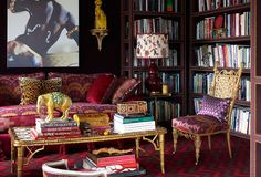"""Current Obsession: The Maximalist Apartment this sale is full of wonderful one-of-a-kind pieces  to add to any collection """"NEW"""" from FRAGMENTS IDENTITY for One Kings Lane opulent throws  in Scalamndre & Ralph Lauren textiles along with an assortment of pillows from all of our collections."""