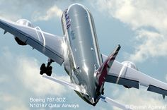 Farnborough Airshow 2012 - Qatar Airways First Boeing 787-8