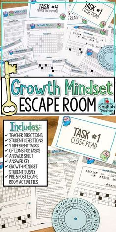 Engage your students at the beginning of the year, or during any time of the year, with a growth mindset escape room activity. In this breakout activity, students will sort through different growth mindset puzzles and challenges. Escape Room, Classroom Fun, Future Classroom, Teachers Room, Student Survey, Growth Mindset Activities, Classroom Community, Beginning Of School, Middle School