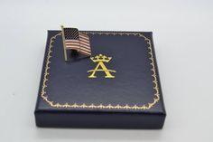 Enameled United States American Flag Pin Charm 14k Yellow Gold - Allurez.com