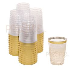 Crystal Collection 125 Pcs 10oz Disposable Plastic Cups For Wedding Party