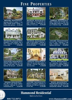This Hammond ad featuring some of the finest properties available in and around Greater Boston will appear in the October 3 European edition of the Wall Street Journal.