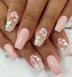 Cute Spring Nails, Spring Nail Art, Nail Designs Spring, Flower Nail Designs, Nails With Flower Design, Acrylic Nails For Spring, Easy Nail Art Designs, Best Nail Designs, Acrylic Nail Designs For Summer