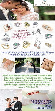 Engagement ring is a symbol of love and affection. If you are getting engaged soon and looking for diamond engagement rings and wedding bands with different cut and shapes, try Sylvie collection in Philadelphia PA. Choose the best one which suites on her personality.