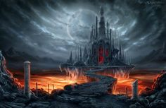 Fantastic world Gothic Castle Moon Fantasy wallpaper | 3000x1946 | 336267 | WallpaperUP