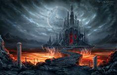 Fantastic world Gothic Castle Moon Fantasy wallpaper | 3000x1946 | 336267 | WallpaperUP
