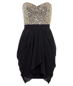 Sequin Bust Dress.