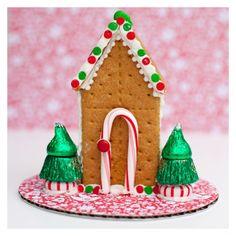 Graham Cracker Gingerbread Houses on Milk Cartons!