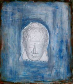 Abstract painting .Mixed Media .The Buddha. Modern by painting321
