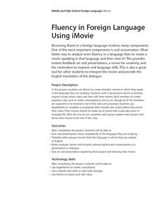 Foreign Language Fluency Using iMovie Lesson Plan for - Grade Foreign Language, High School, Teacher, How To Plan, Professor, Grammar School, High Schools, Secondary School