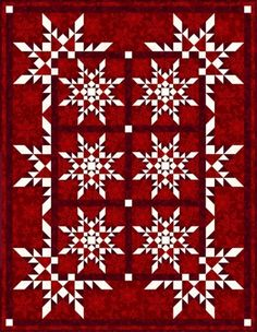 StarFlakes Quilt and Lap Quilts  Gorgeous pattern from Pam Bono