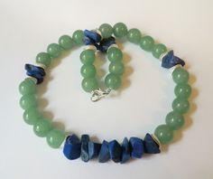 Jade-Lapislazuli Collier   von soschoen auf DaWanda.com