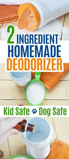 Easy homemade deodorizer with only 2 ingredients! Kid safe and dog safe, all natural, and works great, Makes an awesome carpet freshener, DIY cleaning powder, and air freshener. Makes your whole house smell great! #DIY #cleaning #cleaningtips #cleaninghacks #greencleaning