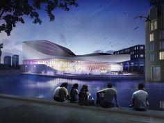 UNStudio: theater spijkenisse is under construction - designboom | architecture