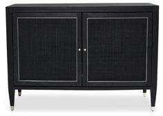 Henley Bar Cabinet, Onyx