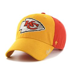 4e5fc6450 Kansas City Chiefs Sparkle Two Tone Clean Up Torch Red 47 Brand Womens Hat