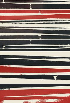 Could be a DIY project... Navy Red Stripes Art Print by Nikie Monteleone | Society6