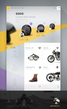 Unique Layout E-Commerce Website Design