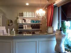 Clean and clutter-free is our motto at E Day Spa and Salon, like our new front desk lighting? :)