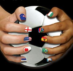 olympics nails! (I see the English flag, but I would have to add a Union Jack in there as well as the Irish flag)