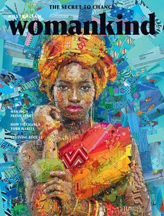 A series of mosaic illustrations created as cover art for Womankind magazine by Greek visual designer Charis Tsevis based in Pafos, Cyprus. Illustrations, Illustration Art, Afro, Collages, Art Du Collage, Digital Collage, Paper Mosaic, Brick Art, Mosaic Portrait