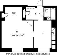 Hakaniemenkatu, Hakaniemi, Helsinki, 1h+k 43 m², SATO vuokra-asunto