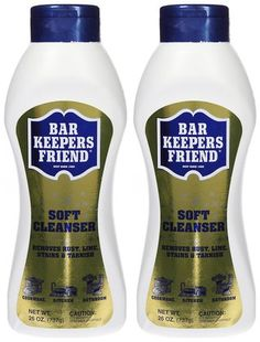 Barkeeper's Friend Liquid Cleanser, 26 oz-2 pack $7.25    This is a great cleaner.   @Robin Heeres Found it on soap.com!