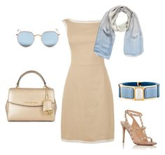 jaro světlé by j-liebichova on Polyvore featuring Valentino, MICHAEL Michael Kors, Prada, Ray-Ban and Chanel
