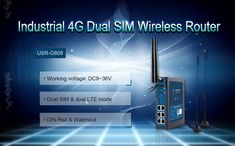 USR-G808 is a Dual SIM 4G LTE WiFi Wireless Router, with SIM Card Slot. Dual SIM cards provide a auto fail-over for higher stablity and convenience.      Working voltage: DC 9-36V      Dual SIM & dual LTE mode      DIN-Rail & Wallmout      Small size: 160.0*121.0*45.0mm