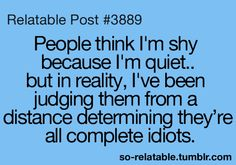 And if I determine that you're not a complete idiot then I'm the crazy friend that all your other friends talk about!